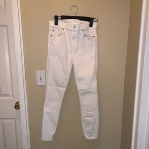 Gap white stretch skinny jeans sz 27